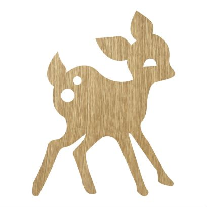 Ferm living deer lampe oiled oak