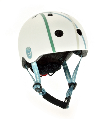 Scoot and ride sykkelhjelm hvit