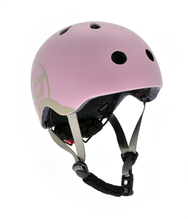 Scoot and ride sykkelhjelm rosa