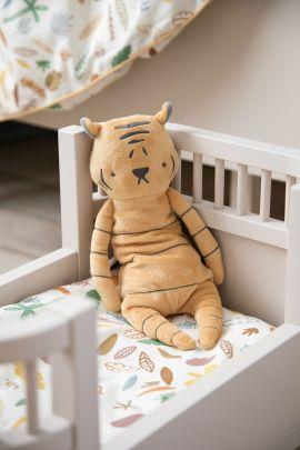 Sebra interiør dukkeseng med wildlife sengetøy