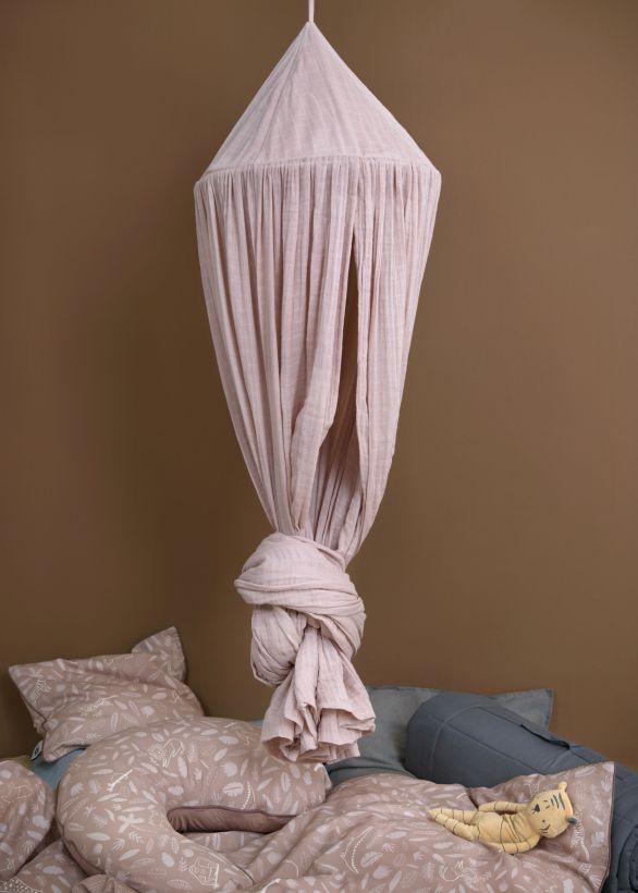 Sebra interiør sengehimmel rose1