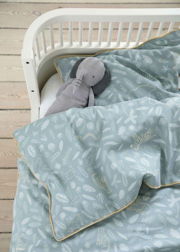 Sebra interiør sengetøy wildlife eucalyptus